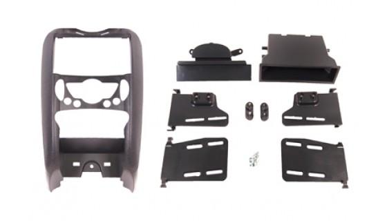 Multi Kit  inbouwframe met bakje, Nissan 370Z 09 > mat zwart