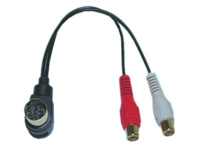 AUX line out adapter, ALPINE 8-pin > RCA vrouwelijk 96>