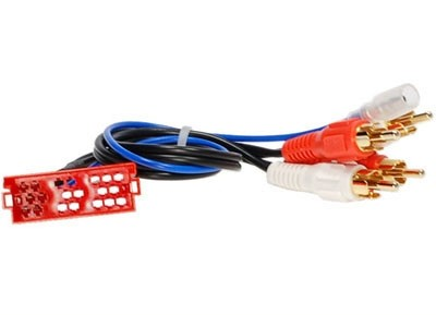 Passieve LOW LEVEL converter kabel 20-pin vrouwelijk > RCA