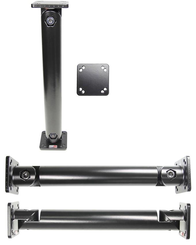 "Pedestal Mount 10"" L:250mm Mounting plate:50x50mm Black"