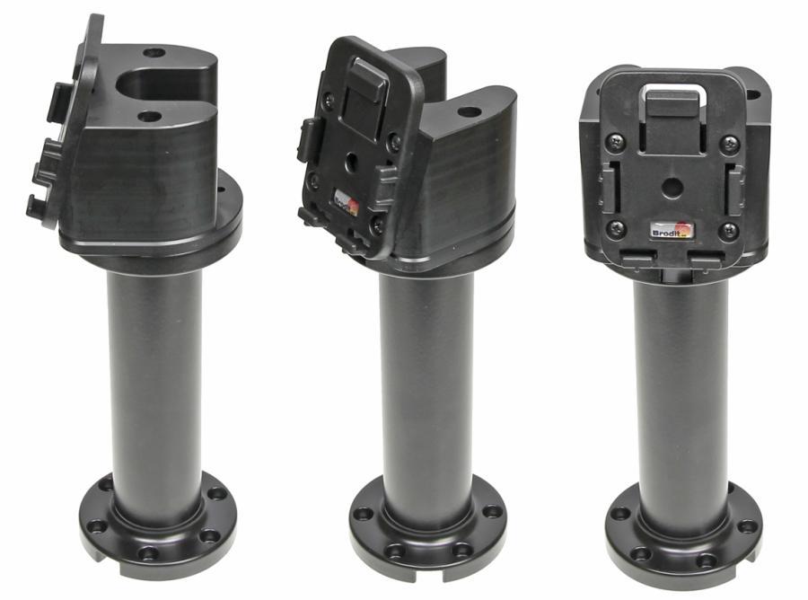 "Pedestal Mount 6"" for cable Kop 75° & MoveClip H:200mm Black"