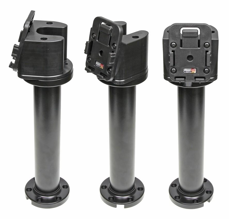 "Pedestal Mount 8"" for cable Kop 75° & MoveClip H:250mm Black"