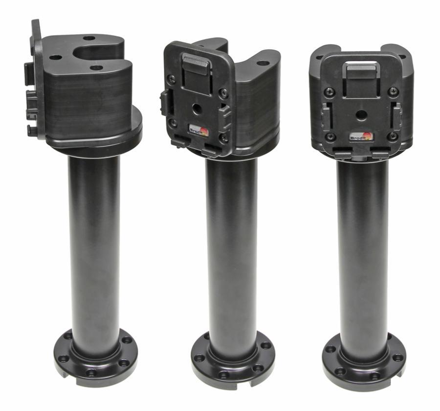 "Pedestal Mount 8"" for cable Kop 90° & MoveClip H:250mm Black"
