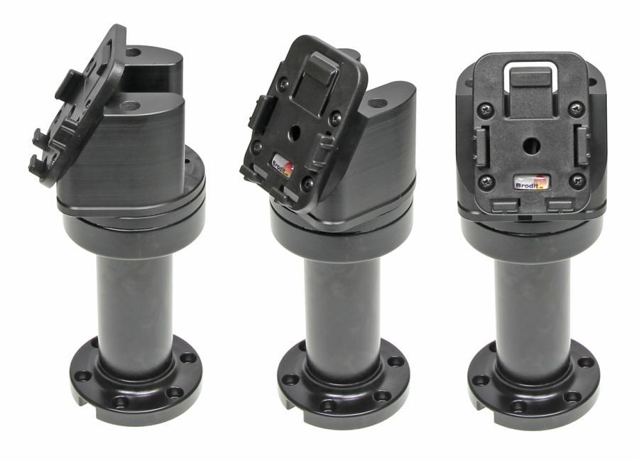 "Pedestal Mount Swiv. 4,5"" Kop 60° & MoveClip H:165mm Black"