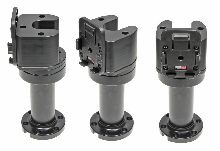 "Pedestal Mount Swiv. 4,5"" Kop 90° & MoveClip H:165mm Black"