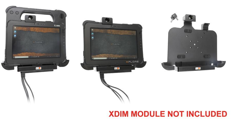 Brodit houder Zebra Xplore L10/XPAD-met slot/XDIM module