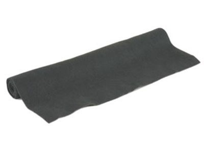 Akoest. stof, polyester 250gr/m² ZWART 150x70 cm
