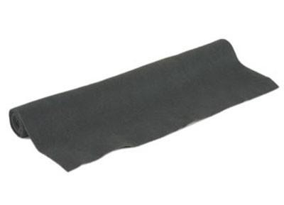 Akoest. stof, polyester 250gr/m² ZWART 1,5x50 m