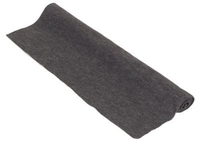 Akoest. stof, polyester 250gr/m² ANTHRACITE 1,5x50 m