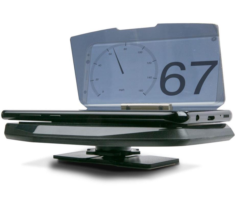 HeadsUp display icm Smartphone (APP) voor Navi/km/h/RPM