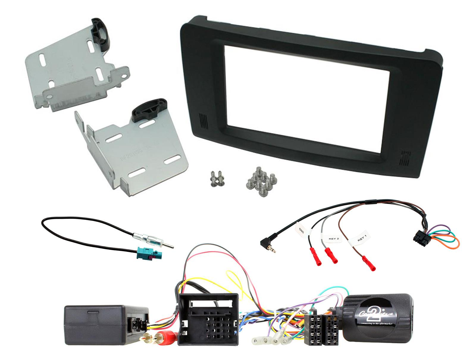 2DIN KIT Mercedes ML (W164) 2005-2011 + Fibre optic amp