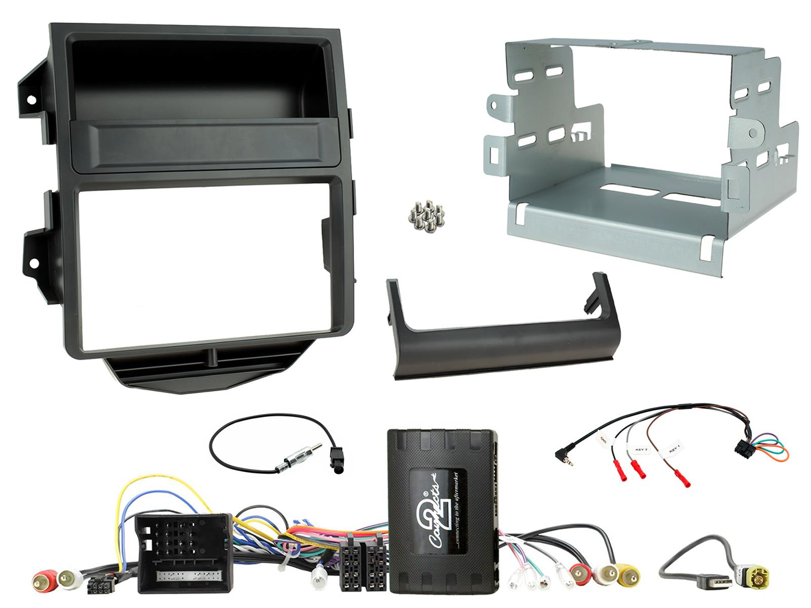 2DIN KIT Porsche Macan 2014-2016 Zwart No Amp + pdc optisch