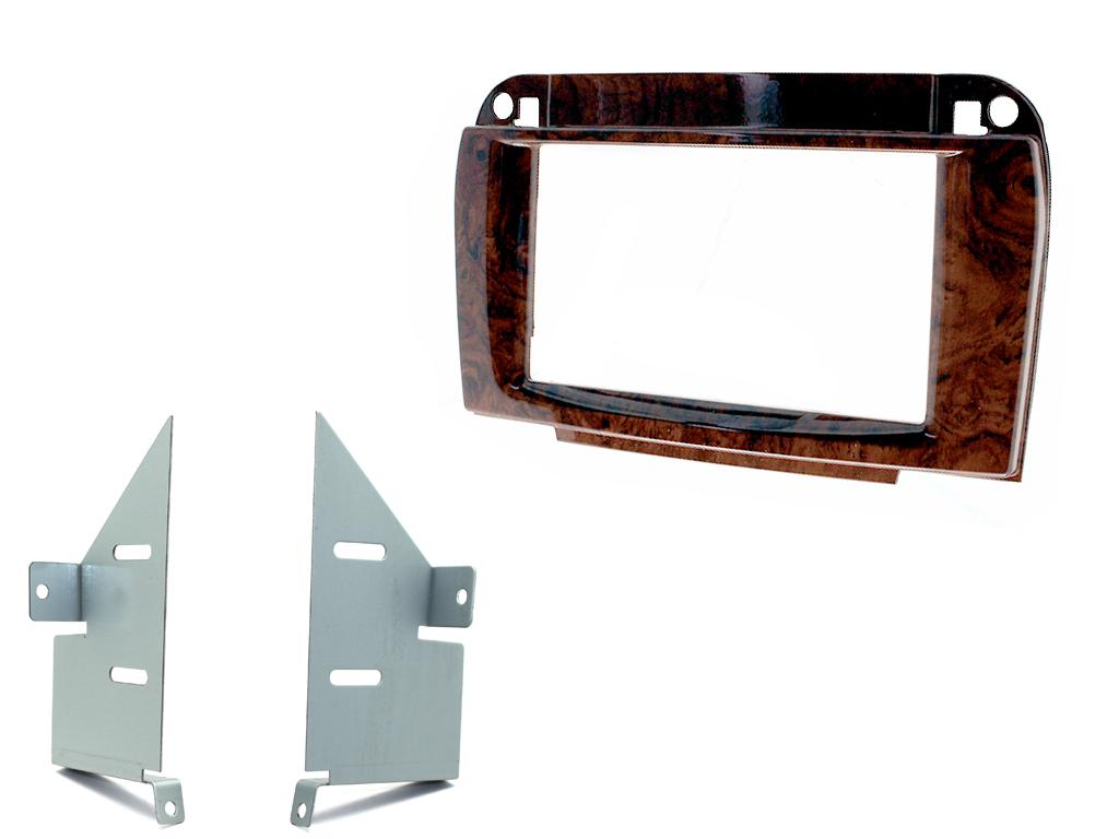 2-DIN frame ECO Mercedes CL (C215) 1999-2006 Hout look