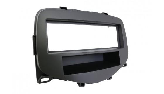 2-DIN frame met bakje C1 2014->/108 2014->/Aygo 2014-> Zwart