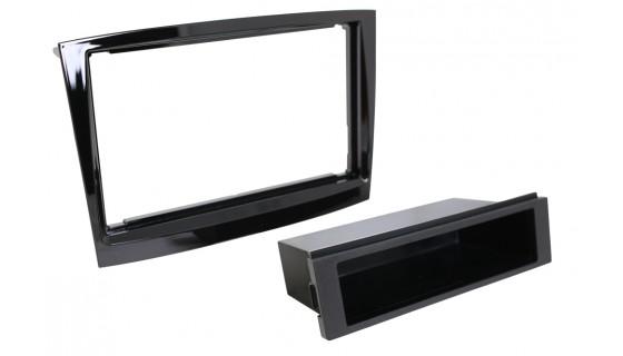 2-DIN frame met bakje Fiat Doblo 2015- Piano Zwart