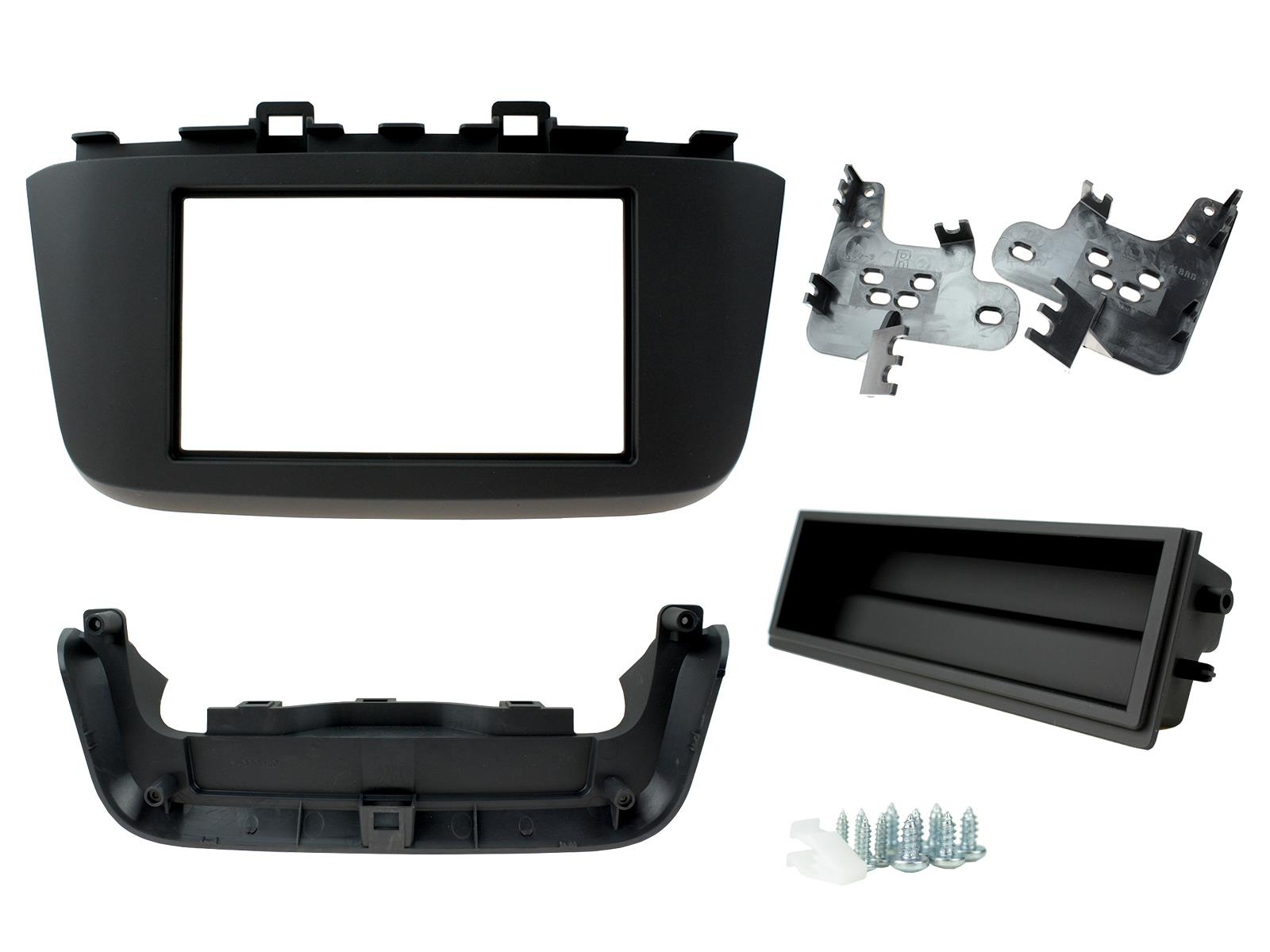 2-DIN frame met bakje iso Hyundai Kona 2018 - Zwart