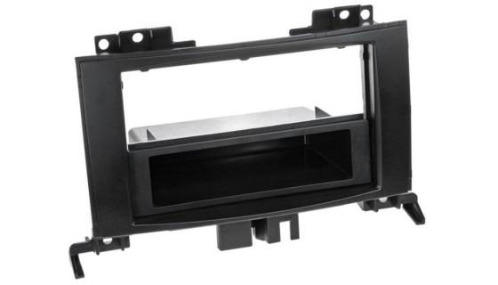 2-DIN frame met bakje MB Sprinter VW Crafter 2006 Zwart