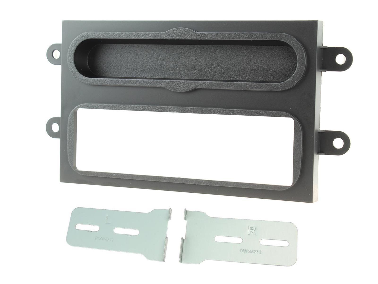 2-DIN frame met bakje Renault Twingo 2014 - Mat Zwart