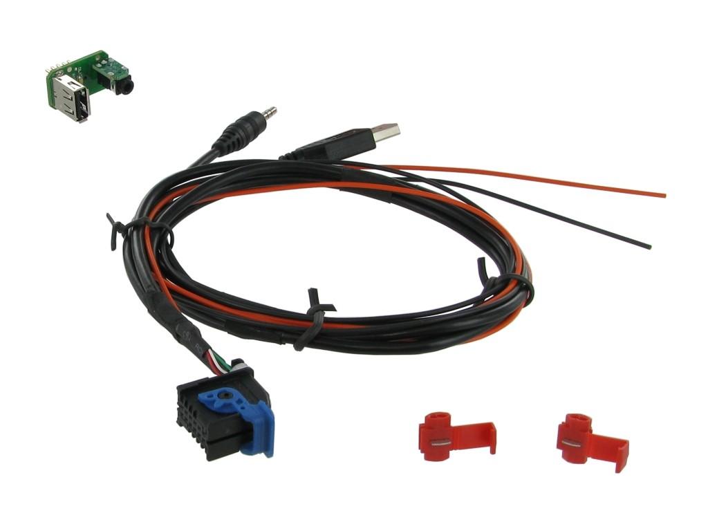 USB/AUX vervanging OEM PCB Fiat/Alfa/Lancia met blue & me
