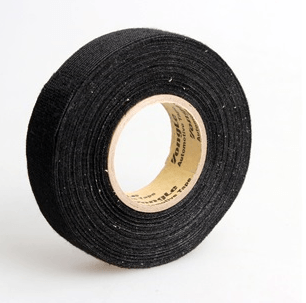 High Abrasion Polyester Cloth Tape 9mm; 25 meter; black