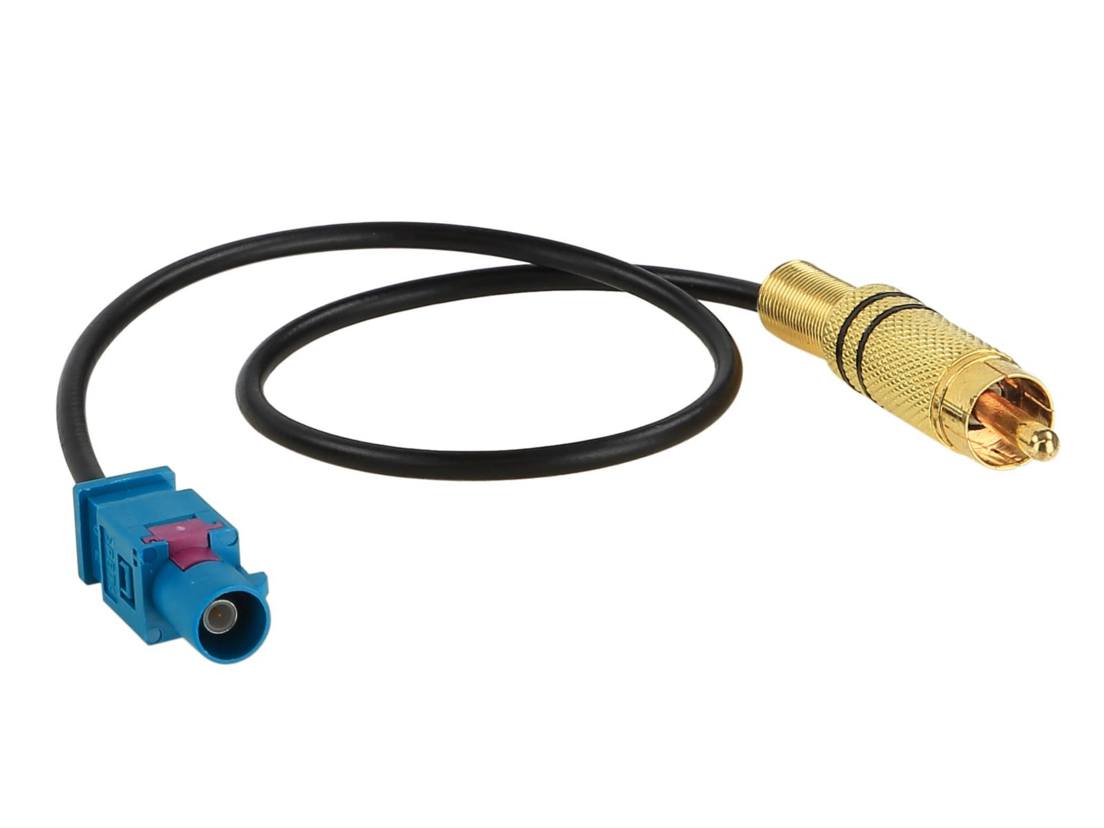 RCA cinch adapter (m) --> fakra green plug (m)  (Mercedes)