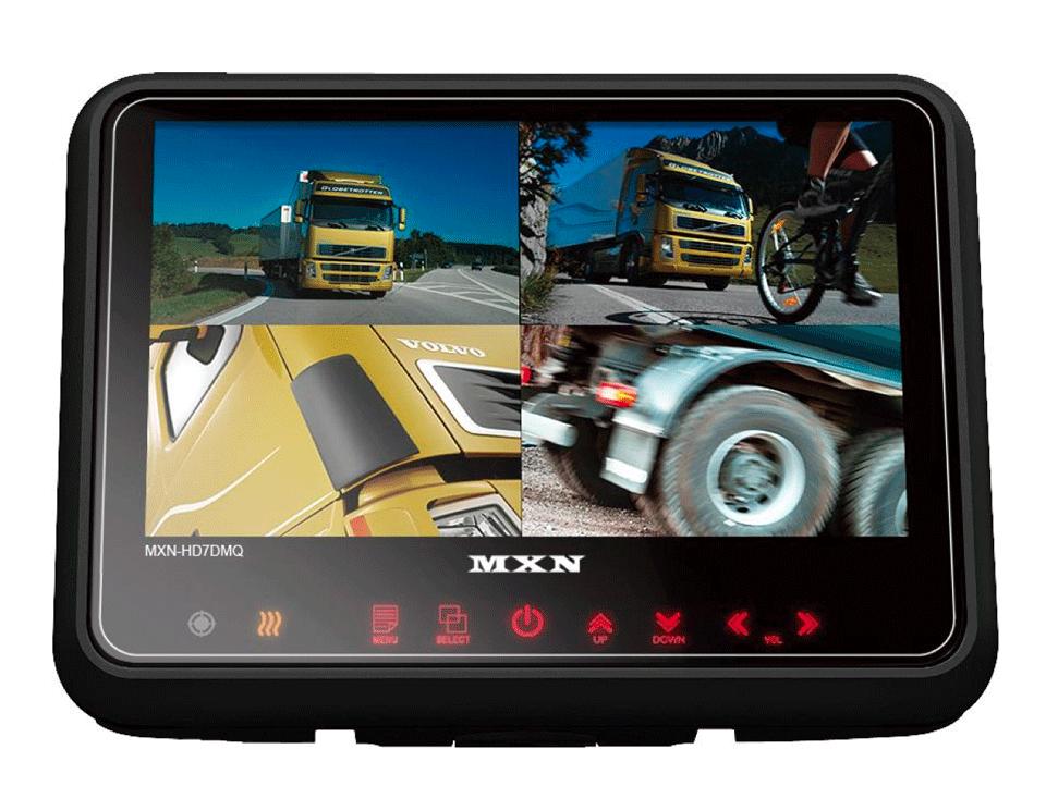 """MXN 7""""  Heavy Duty Touch Monitor IP69K Splitscreen"""