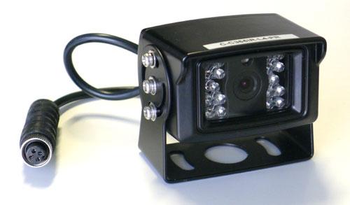 "m-use Opbouwcamera 1/3"" Sharp CCD 120° 4 pin NTSC (12Volt)"
