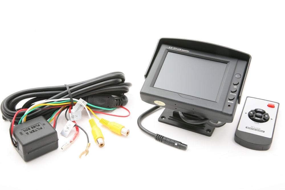"m-use opbouw monitor 3.5"" screen 2x AV 12V incl sp, RC"