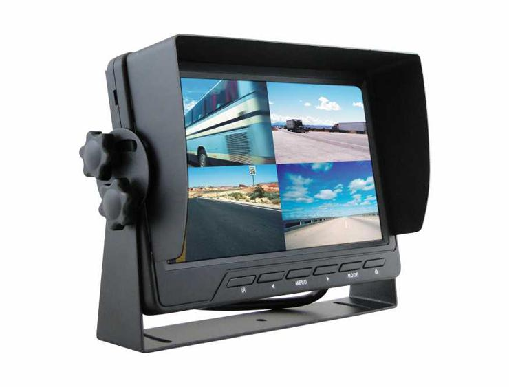 "m-use opbouw monitor 7"" split screen 4x av 12/24v TFT-LCD"