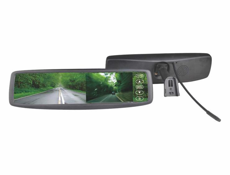 "m-use spiegel 12V met monitor 4,3"" OEM bracket  nr1"