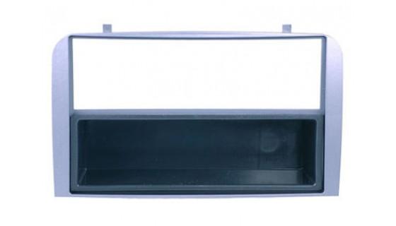 1-DIN inbouwframe, Alfa 147 2000-2010/GT 2007-> zilver