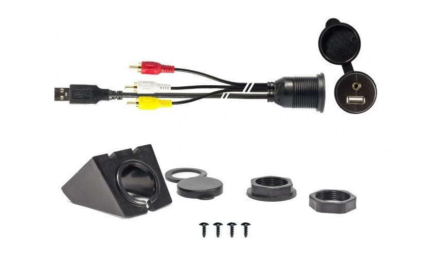 USB inbouwsocket - AUX in - 200 cm kabel
