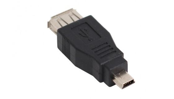 USB adapter, Mini USB 5-pin mannelijk >USB 2.0