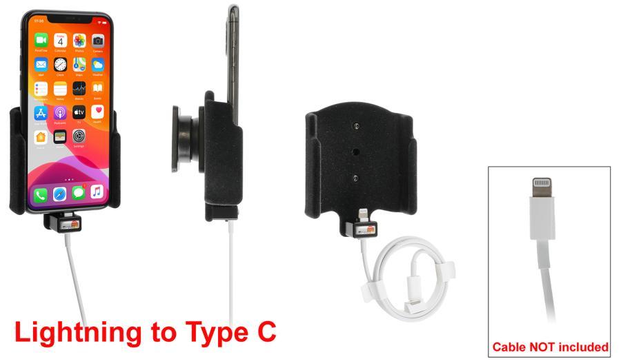 Brodit houder Apple iPhone 11 Pro padded lightning-->USB-C