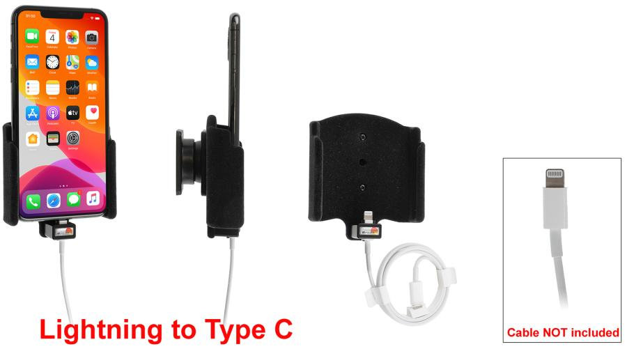 Brodit houder Apple iPhone 11 Pro Max pad.lightning-->USB-C