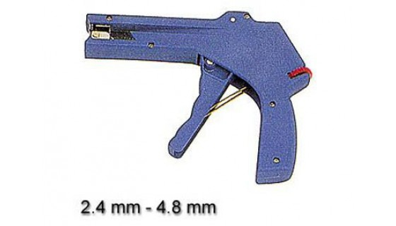 Cable tie gun, for cable ties  2,4 - 4,8 mm