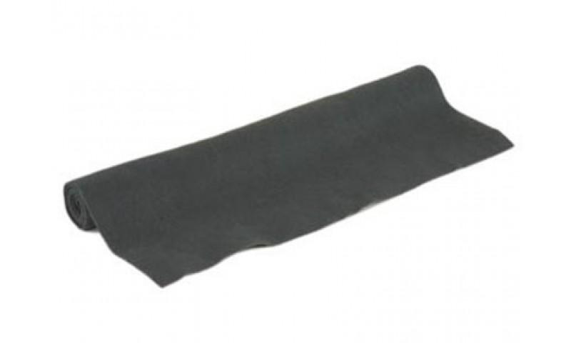 Akoest. stof, polyester 250gr/m² ZELFKLEVEND ZWART 1.5mx5m