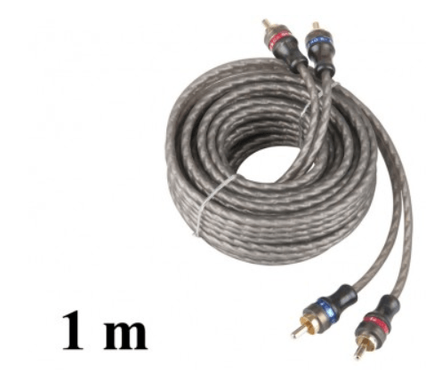 RCA kabel, 2x male - 2x male 1 meter 1 stuk