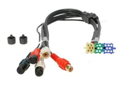 Passieve low levelkabel Becker Blaupunkt 5 RCA plugs (f)