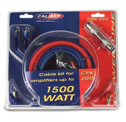 kabel kit voor versterkers tot 1500 watt